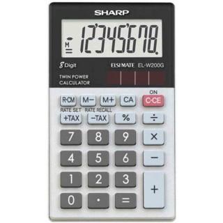 SHARP Taschenrechner EL-W200G schwarz/grau