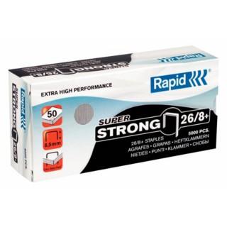 RAPID Heftklammern 5.000 Stück 26/8 Super Strong