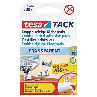 TESA Klebepad Tack 59401 doppelseitig 200 Stück transparent