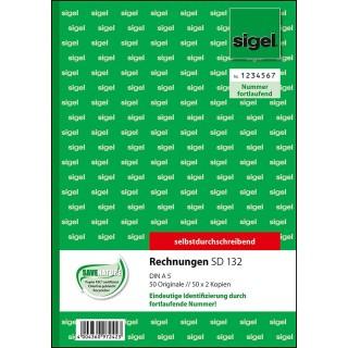SIGEL Rechnung SD132 A5 3 x 50 Blatt