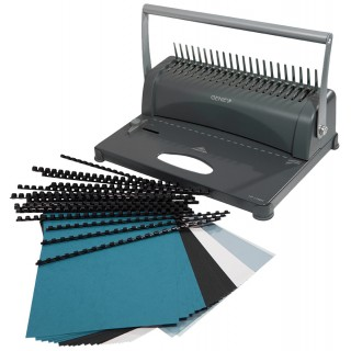 GENIE Plastikbindegerät CB 850 manuell silber/schwarz