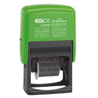 COLOP Wortbandstempel Green Line S220/W grün/schwarz