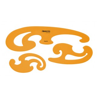 ARISTO Kurvenlinealset AR5039 3 Stück orange