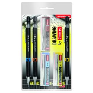 ARISTO Druckbleistiftset AR23559 20 Displays à 3 Stifte inkl. passender Minen 0,3/0,5/0,7 mm
