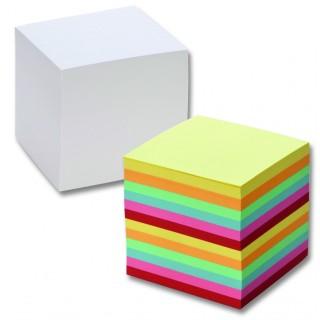 FOLIA Zettelboxeinlage 9 x 9 x 9 cm ungeleimt 700 Zettel bunt