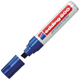 EDDING Lackmarker 800 mit Keilspitze 4-12 mm blau