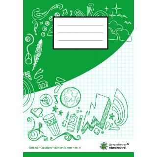 PAGRO Heft A5 20 Blatt kariert 5 mm grün
