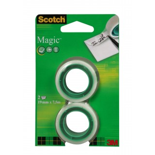 SCOTCH Klebeband Magic 2 Rollen 19 mm x 7,5 m transparent