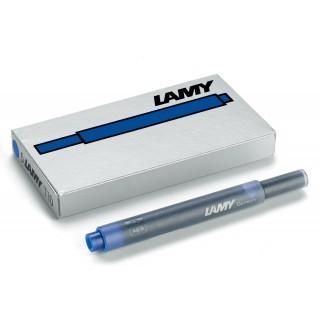 LAMY Tintenpatrone T10 5 Stück löschbar blau