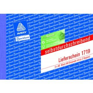 AVERY ZWECKFORM Lieferschein 1719  A6 quer 3 x 40 Blatt selbstdurchschreibend