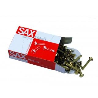 SAX Rundkopfklammern Phenix 19 mm 100 Stück