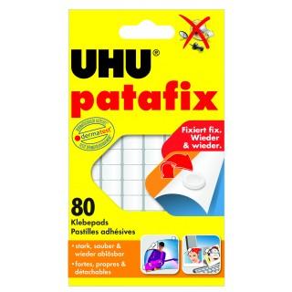 UHU Klebepads Patafix 80 Stück 10 x 12 mm wiederablösbar weiß