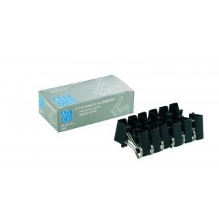 ALCO Foldbackklammer 782S 12 Stück 25 mm schwarz