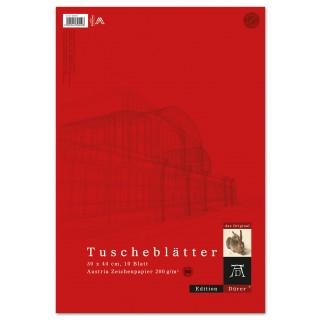 DÜRER EDITION Tuscheblätter 10 Blatt 30 x 44 cm 200 g/m²