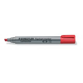 STAEDTLER Flipchartmarker Lumocolor 356B mit Keilspitze 2-5 mm rot