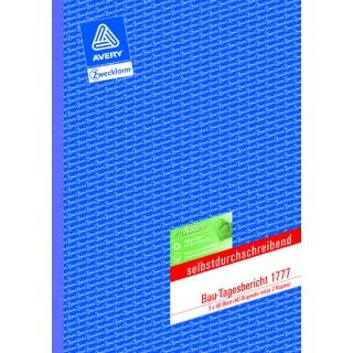 AVERY ZWECKFORM Bautagesbericht A4 3 x 40 Blatt selbstdurchschreibend