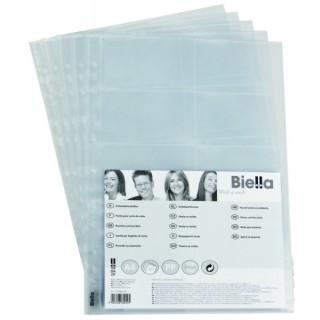 BIELLA Visitenkartenhülle 5 Stück A4 120 mym transparent