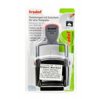 TRODAT Textstempel 49 × 28 mm
