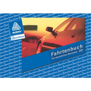 AVERY ZWECKFORM Fahrtenbuch 222 A6 quer 40 Blatt weiß
