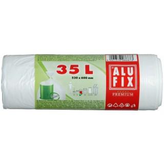 ALUFIX Müllsäcke 35 Liter transparent 30 Stück