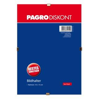 PAGRO Bildhalter ohne Rahmen 10 x 15 cm 5 Stück