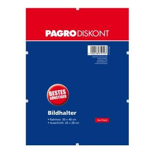 PAGRO Bildhalter 2 Stück 30 x 40 cm ohne Rahmen