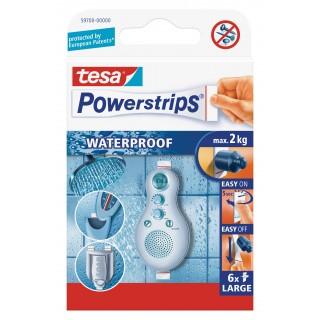 TESA Powerstrips Waterproof Large 59700 6 Stück weiß