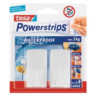 TESA Powerstrips Waterproof 59701 Haken 2 Stück weiß