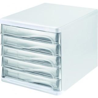HELIT Schubladenbox 5 Fächer glasklar