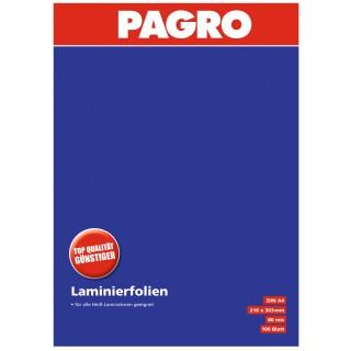 PAGRO Laminierfolien A4 100 Stück 80 µm transparent