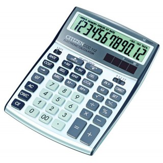 CITIZEN Taschenrechner CCC-112 12-stellig groß silber