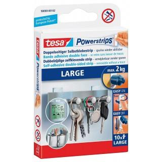 TESA Powerstrips Klebestreifen 58000 Large 10 Stück
