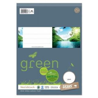 URSUS GREEN Notizblock A4 48 Blatt 70 g/m² glatt