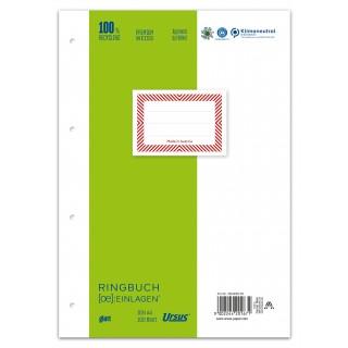 URSUS Ringbucheinlagen A4 100 Blatt 70 g/m² glatt hochweiß
