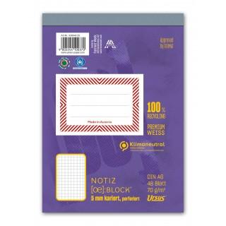 URSUS Block A6 kariert 5mm 70g/m² 48 Blatt