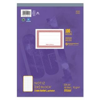 URSUS Block A4 kariert 5mm 70g/m² 48 Blatt