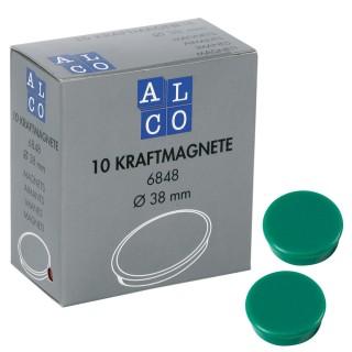ALCO Magnete 6848 10 Stück ø 38 mm dunkelgrün