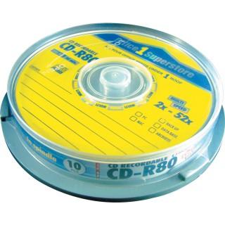 CD-R 700 MB 80 min 10 Stück auf der Spindel