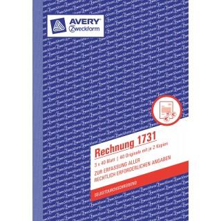 AVERY ZWECKFORM Rechnung 1731 A5 3 x 40 Blatt
