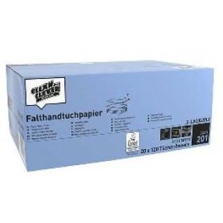 CLEAN & CLEVER Falthandtuch Smart 2.400 Stück 25 x 31 cm 2-lagig weiß