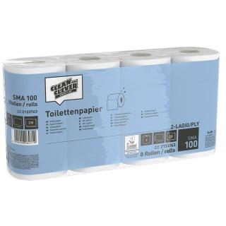 CLEAN & CLEVER Toilettenpapier SMA100 64 Rollen 2-lagig weiß