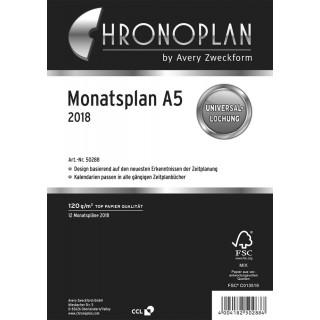 CHRONOPLAN Monatsplan A5 ausklappbar 2018