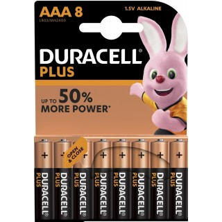 DURACELL Batterien Plus Power MN2400 AAA 8 Stück