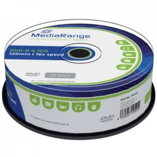 MEDIARANGE DVD+R 25 Stück 4,7GB 16x Spindel