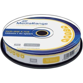 MEDIARANGE DVD+RW 10 Stück 4,7GB 4x Spindel