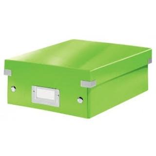 LEITZ Organisationsbox Click & Store 6057 Klein 22 x 10 x 28,5 cm grün-metallic