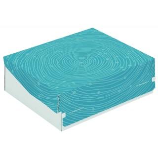 Geschenkkarton mit blauem Muster