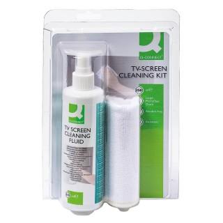Q-CONNECT Reinigungsspray inkl. Mikrofasertuch 250 ml