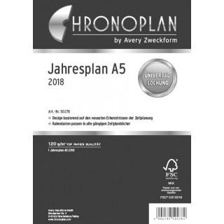 CHRONOPLAN Jahresplan A5 2018
