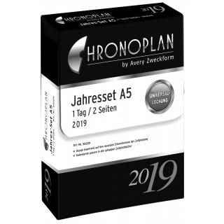 AVERY ZWECKFORM Chronoplan Kalendereinlagen 50208 Jahresset A5 2019